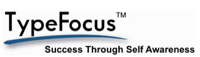 image: typefocus logo: success through self awareness