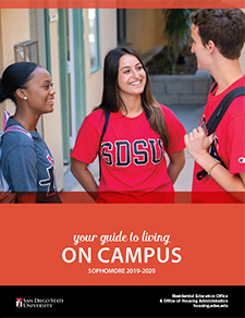 res ed guide to living cover photo with students talking