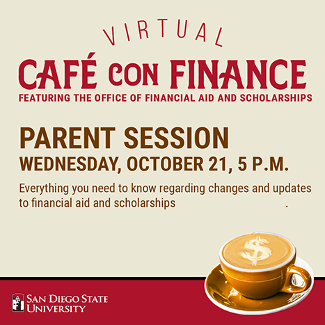 cafe con finance: sept 23 at 10 am. - learn how your aweard may be adjusted after the add/drop deadline