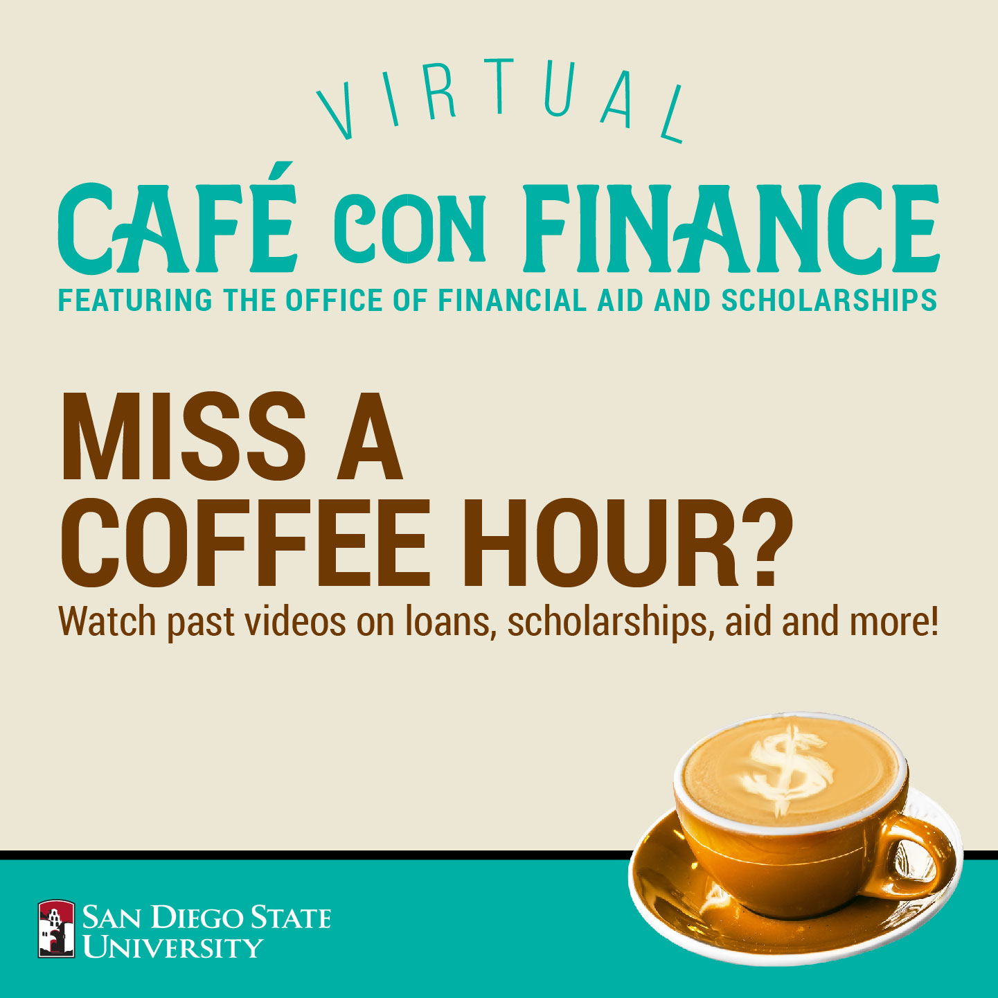 Coffee Hour: Parent Session, Oct 21 at 5 pm is about Financial aid changes and updates