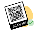 "illustration of qr code that reads ""scan me"""