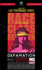 poster for Defamation performance