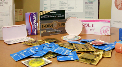 photo of condoms on table