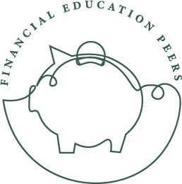 financial education peers logo of piggy bank