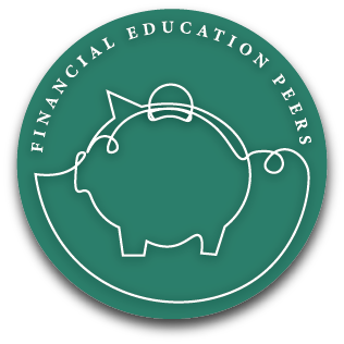 financial education peers logo with piggy bank
