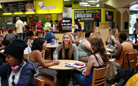 Photo: Students dining in East Commons