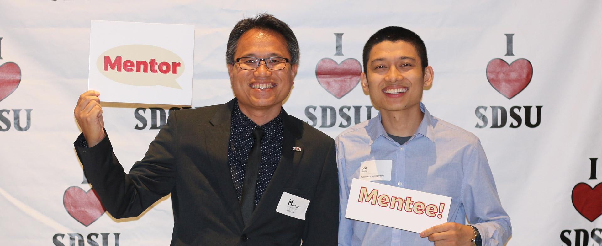 Connecting alumni and professional mentors with  students.