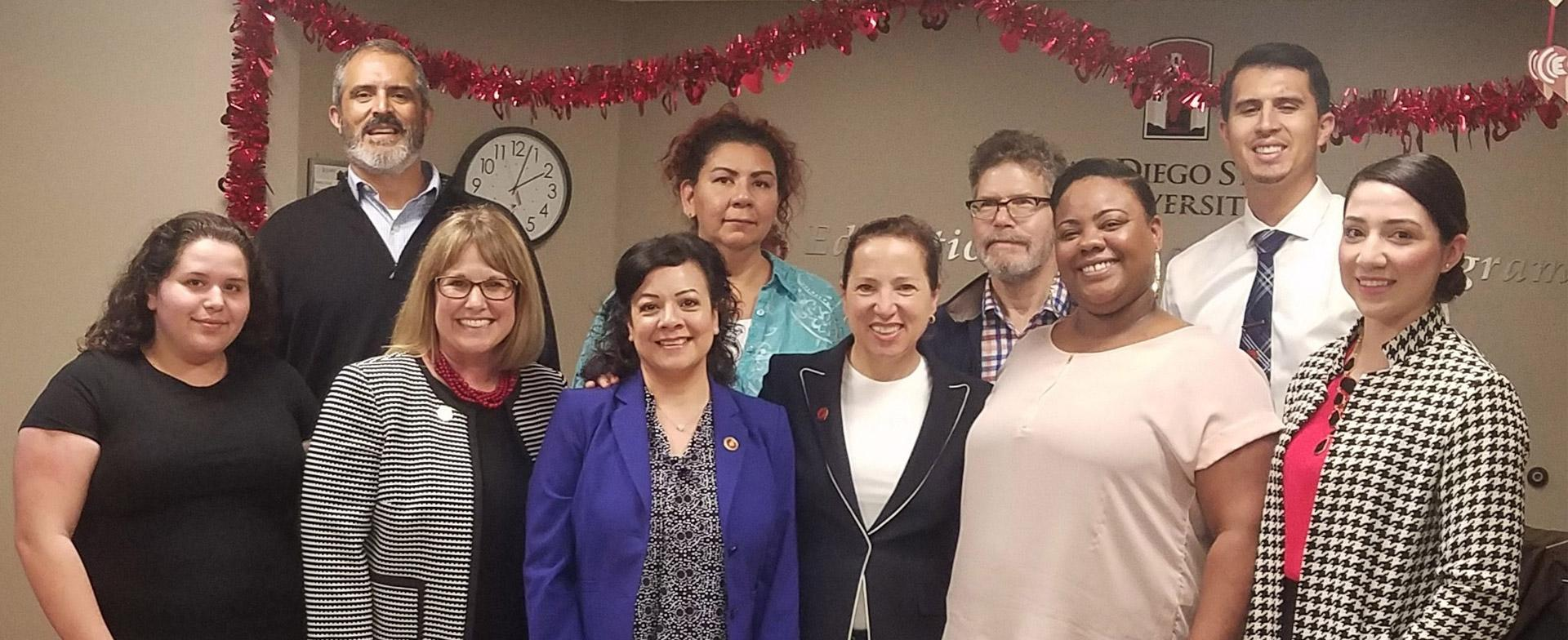 Eleni Kounalakis, Lieutenant Governor of California visits the EOP office.