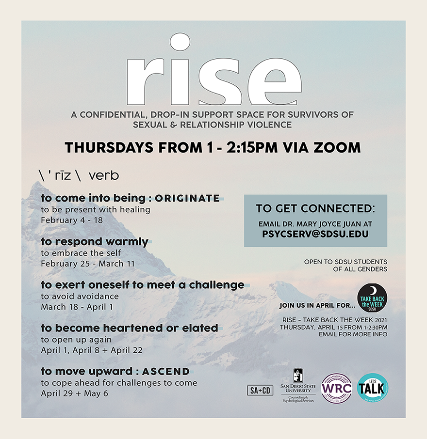 Flyer for Rise Spring 2021
