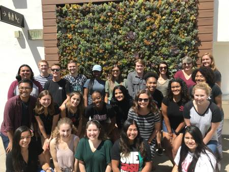 plc group photo at the succulent wall