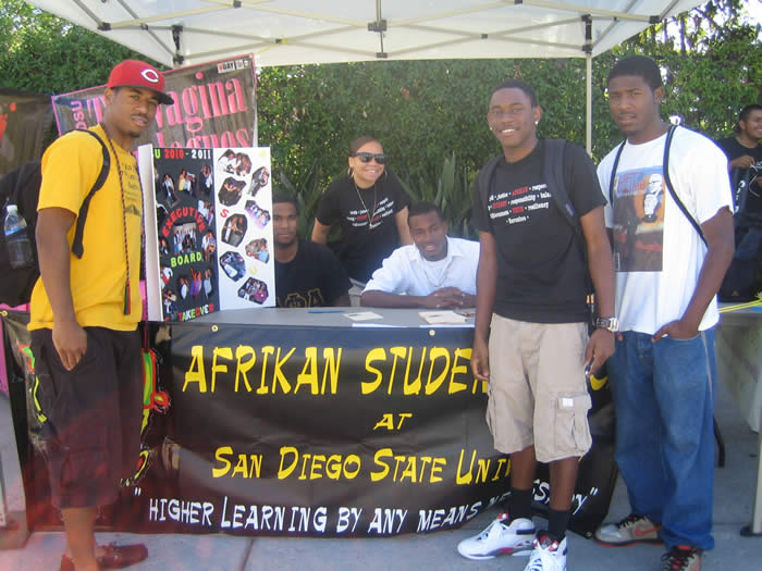 student org photo of Afrikan Studies group